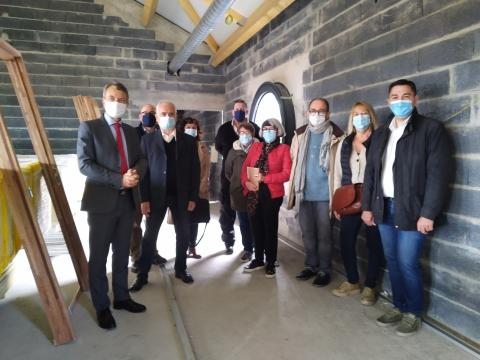 L'Inspecteur d'Académie visite le chantier de la nouvelle école